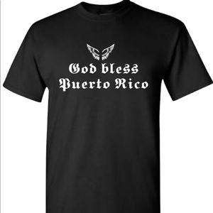 God bless puerto rico t shirt new